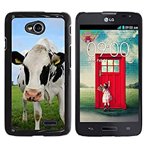 Super Stella Slim PC Hard Case Cover Skin Armor Shell Protection // M00105429 Bull Young Animal Cow Cattle // LG Optimus L70 MS323