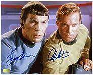William Shatner and Leonard Nimoy Autographed 8x10 Star Trek Photo