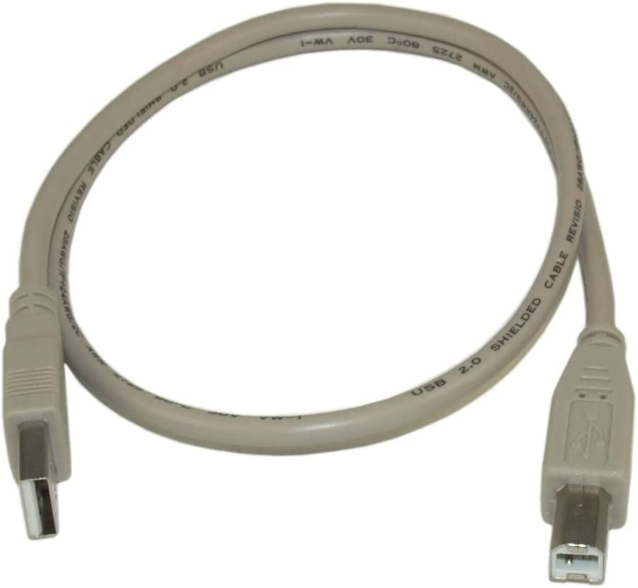 6 INCH USB 2.0 Type A Male to B Male Cable Beige