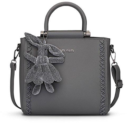 E-girl Shoulder Bag Plastic One Size Womens Gray