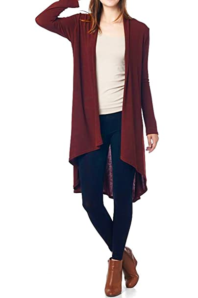 Women'S Jersey Fabric Various Styles Long Cardigan - Solid & Prints