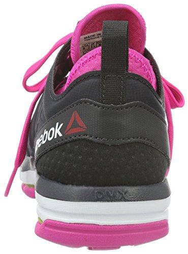 Reebok Dames Wolkride Dmx, Steenkool / Roze / Roze / Witte Steenkool / Roze / Roze / Wit