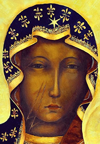 Our Lady of Czestochowa icon Polish Black Madonna CANVAS PRINT Catholic wall art
