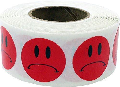 13 mm 1//2 Pollice Rotondo 1000 Etichette di ogni Colore su un Rotolo Felice Faccia Cerchio Punto Adesivi 5 Colori Pacchetto