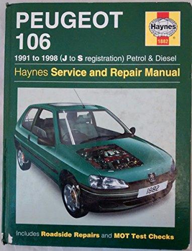 Peugeot 106 Petrol & Diesel 1991 - 1999 (J to T) (Update): 1991 - 1999 (J to T) (Haynes Service and Repair Manuals)