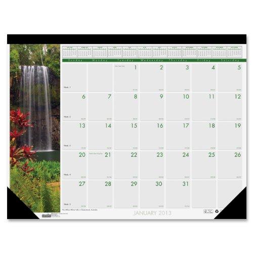 House of Doolittle Photographic Monthly Desk Pad Calendar, January-December, 2013, 22