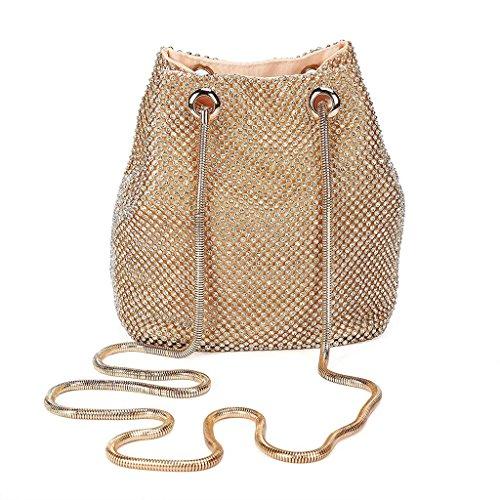 Evening Silver Women's Rhinestone Bag Wedding Handbag JAGENIE Prom Gold Party Shoulder Bridal Clutch 5FZZSw