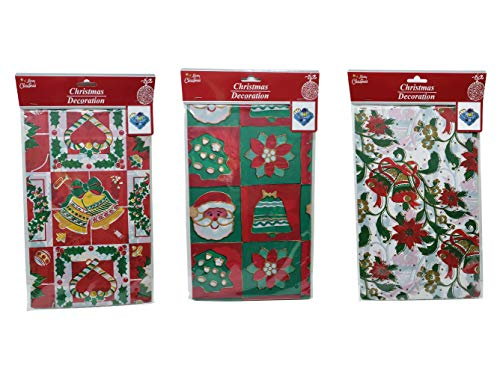 THE UM24 3 Pack Christmas Holiday Tablecloth in Assorted Pattern Designs 54 x 90 in