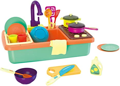 LHTY Kits de Cocina Casa de Juegos para niños Juguetes de Cocina Juguetes pequeños para Piscina eléctricos Mesa para Lavar Platos Juguetes Simulación Juego de Cocina 3-6 Regalo de cumpleaños: Amazon.es: Deportes
