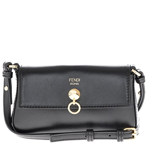 Fendi Women's Women's Micro Baguette Gold Chain Strap Bag Black Fendi Black Bag