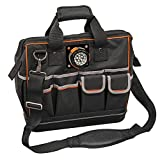 Tool Bag with Padded Shoulder Strap and Handles Has Lighted Tool Storage with 31 Pockets Klein Tools 55431