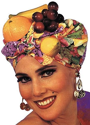 Forum Novelties Women's Latin Lady Carmen Miranda Headpiece, Multi, One (Carmen Miranda Fancy Dress Costume)
