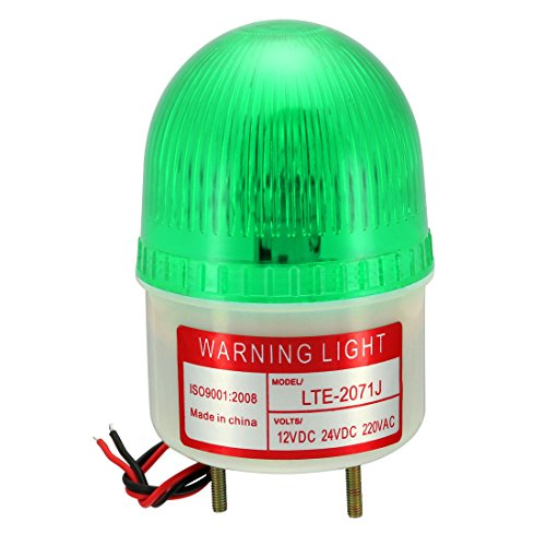 uxcell Warning Light Bulb Rotating Flashing Industrial Signal Tower Lamp Buzzer 90dB DC 24V Green (Best Uxcell Light Bulbs)