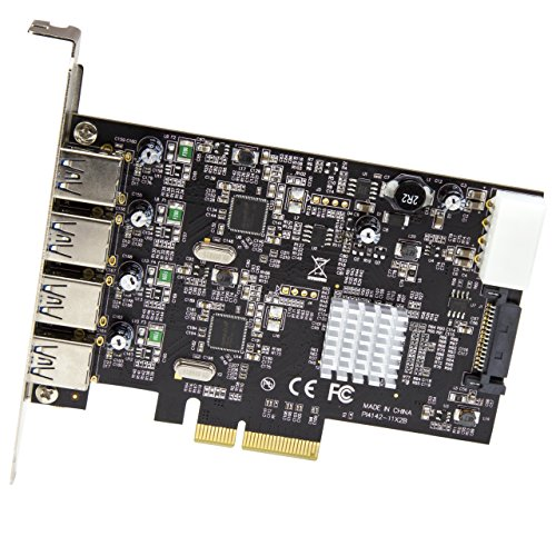 StarTech USB 3.1 PCI-e Card – 4 Port – 4X USB-A with Two 10Gbps Dedicated Channels – Expansion Card – USB 3.1 Card by StarTech (Image #1)