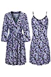 Best 2LUV Holidays - SofiePJ Women's Printed Sleepwear Chemise and Robe 2PC Review