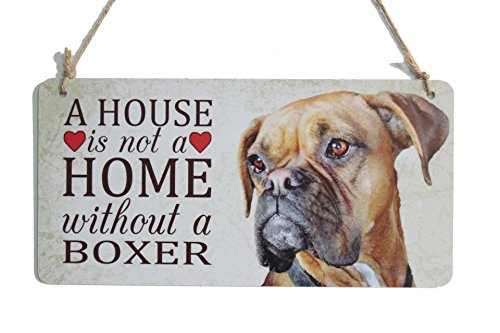 A House Is Not A Home Without A Boxer Dog Sign Perfect For Dog Lover Gifts (5