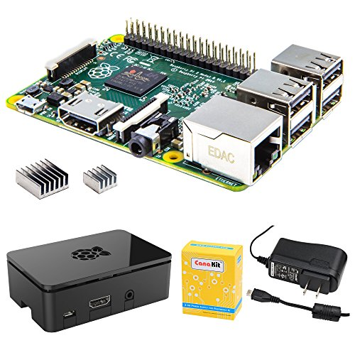 CanaKit Raspberry Pi 2 (1GB) with Premium Black Case and 2.5A Power Supply by CanaKit