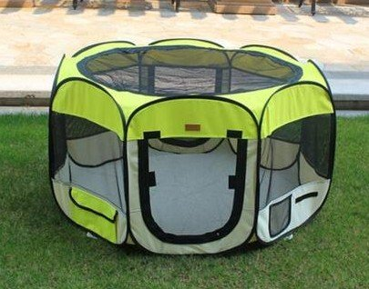 Large Yellow Pet Tent Exercise Pen