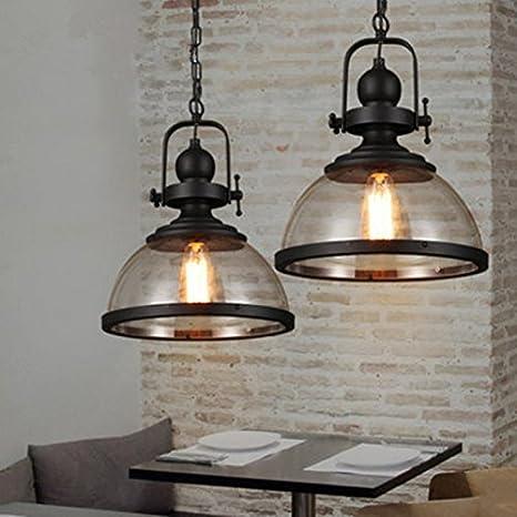 Lámpara de techo retro industrial de Motent, lámpara ...