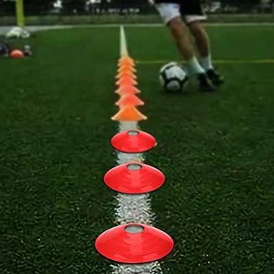 VGEBY1 Conos de f/útbol Marcador pr/áctico de Discos de Cono de Campo para Entrenamiento de Velocidad de Deportes de f/útbol Soccer