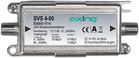 Axing Svs 4 00 Satelliten Leitungsverstärker Inline Breitband 17 Db