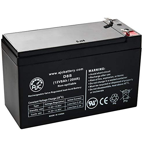 Ritar RT1280, RT 1280 12V 8Ah UPS Battery - This is an AJC Brand Replacement