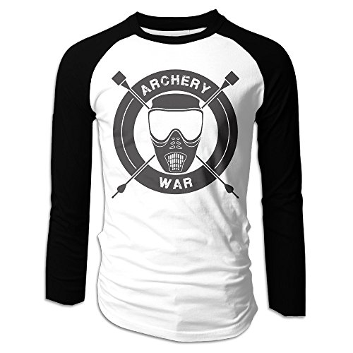 Creamfly Mens Archery War Logo Long Sleeve Raglan Baseball Tshirt - Chicago Hours Target