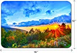 Liili Large Mouse Pad XL Extended Non-Slip Rubber Extra Large Gaming Mousepad, 3mm thick Desk Mat 18x12 Inch Blue Ridge Parkway late summer Appalachian Mountains Sunset Western NC Scenic Landscape vac