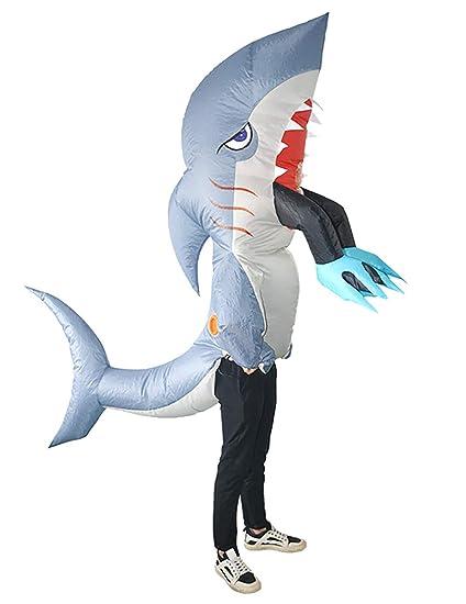 ShiyiUP Disfraces Inflable de Tiburón Traje Hinchable para ...