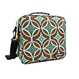 KOSOX Oxford Square Insulated Lunch Tote Bag Picnic Cooler Bag with Shoulder Strap - Unisex Lunch Bag for Adults, Kids, Women, Men, Teens (Cobalt Green)
