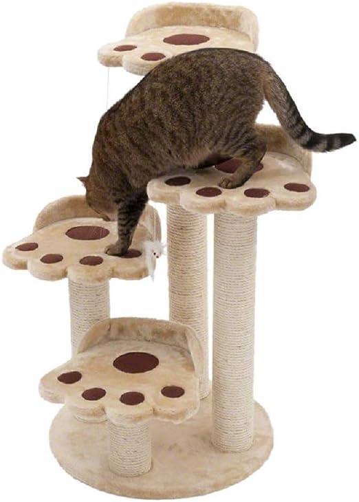 PetsLove 4 Niveles de árbol para Gato, Oso con Forma de Pata ...