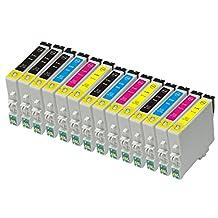 Proosh Compatible 14 Ink Cartridges for T060 (#60) Non OEM; 5 Black T0601, 3 Cyan T0602, 3 Magenta T0603, 3 Yellow T0604 for use in Compatible Printers: Epson Stylus C68 / C88 / C88Plus / CX3800 / CX3810 / CX4200 / CX4800 / CX5800 / CX5800F / CX7800 / D68P / D88 / D88Plus / DX3800 / DX4800