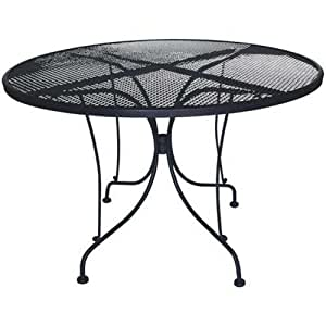Dc america wit248 charleston wrought iron table 48 inch diameter patio dining - Inch diameter dining table ...