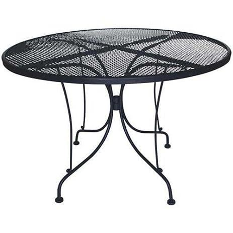 DC America WIT248 Charleston Wrought Iron Table, 48 Inch Diameter
