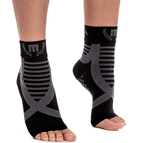 Mava Sports Ankle Support Compression Socks for Running, Jogging, Cross Training, Workouts, Basketball, Tennis, Cycling – Recovery & Relief Ankle Sleeves for Plantar Fasciitis, Achilles Tendonitis