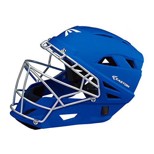 Easton M7 Grip Catchers Helmet, Royal, Large (Catchers Royal Helmet)