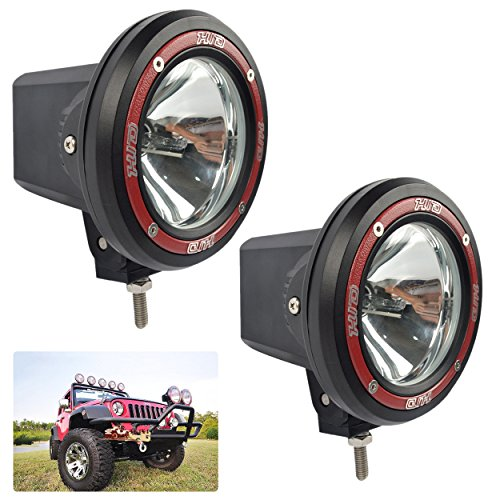 2-Pack 55W 4〃 HID Light Offroad Light Pods Lights, TaiTian 4Inch Built-in Xenon HID 4x4 Off Road Rally Driving Fog Light Lamp for Truck SUV Jeep ATV (Driving 55w Light)