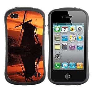 LASTONE PHONE CASE / Suave Silicona Caso Carcasa de Caucho Funda para Apple Iphone 4 / 4S / Sunset Beautiful Nature 92
