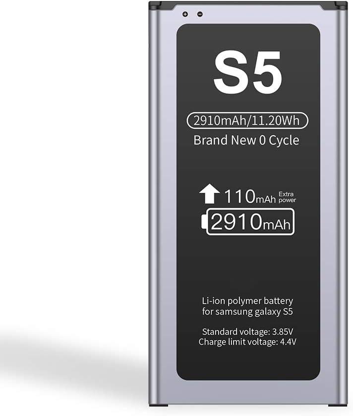 Batería ZMNT para Samsung Galaxy S5 Batería Interna de reemplazo de batería de ión de Litio de 2910mAh Mejorada Samsung S5: Amazon.es: Electrónica