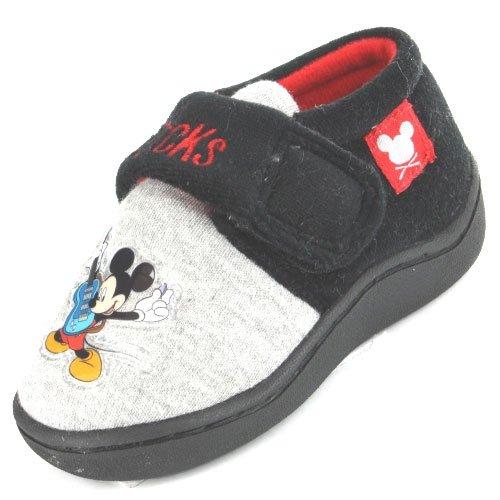 la mejor actitud 7b56c d87ca Mickey Mouse - Zapatillas de Estar por casa para niño Gris ...