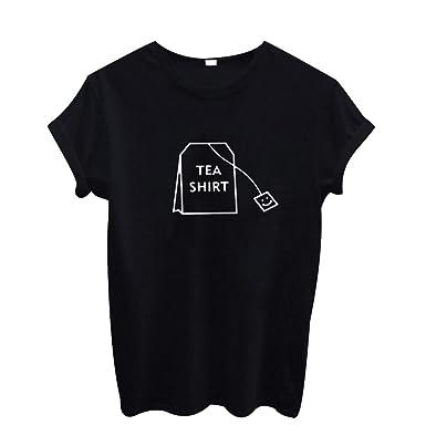 ISSHE Oversize T Shirt Damen Print Rundhals T Shirts Kurzarm Frauen Sommer  Lockere T-Shirt mit Aufdruck Oberteil Sommershirt Tops für Damen Schöne ... 4a4a999221