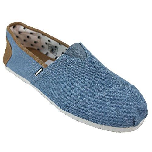 Di Baggio Mens Two Tone Summer Elasticated Slip On Espadrilles Plimsoll Shoes Stone Wash O36Mdt
