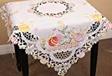 Xia Home Fashions Country Egg  Embroidered Cutwork  34-InchBy 34-Inch Easter Table Topper