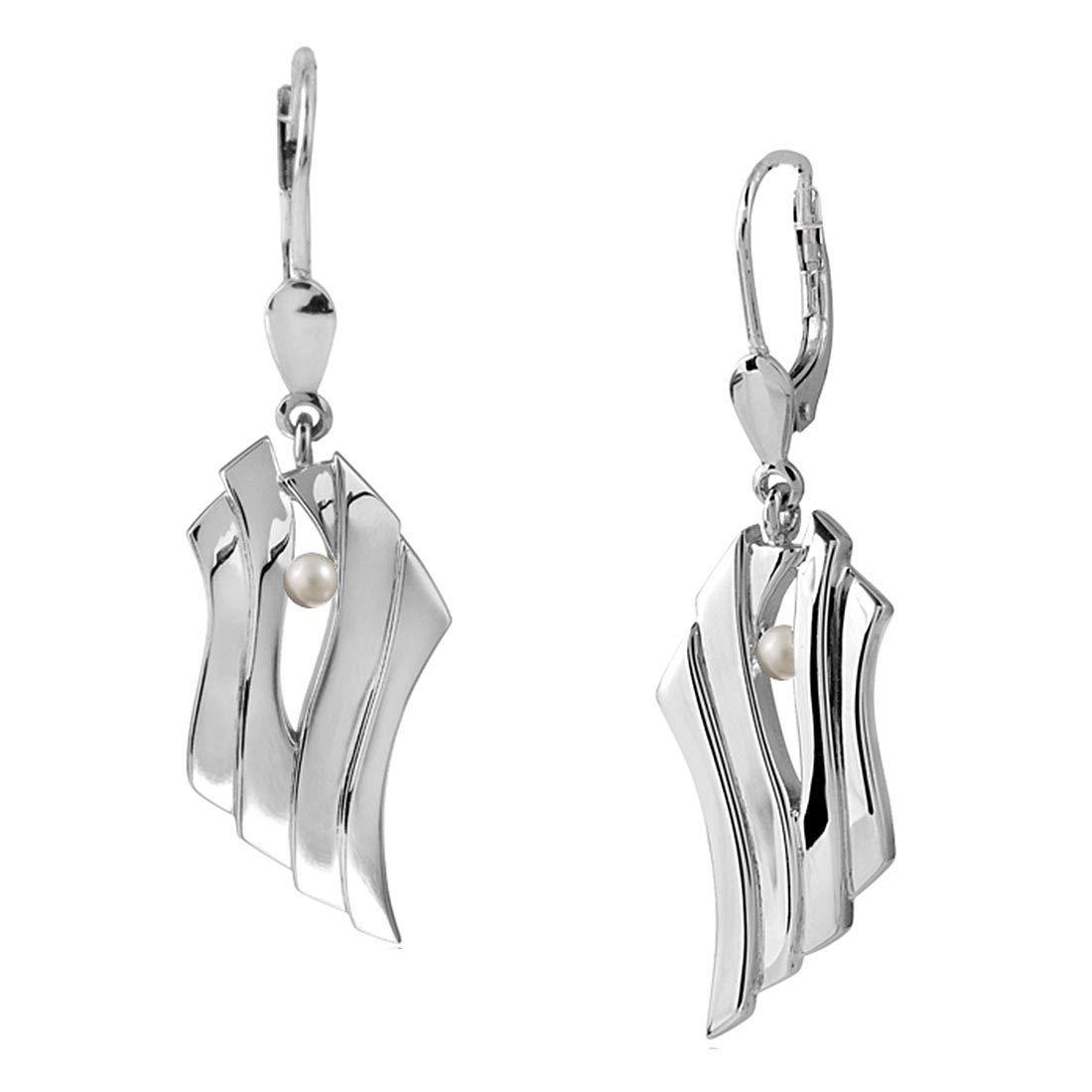 Box MATERIA Zirkonia Ohrhänger unendlich Silber 925 rhodiniert Ohrringe lang