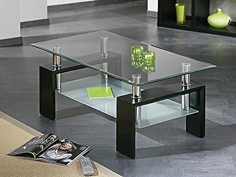 Tavoli Con Gambe Di Vetro : Hogar tavolo da salotto in vetro con gambe di legno nero