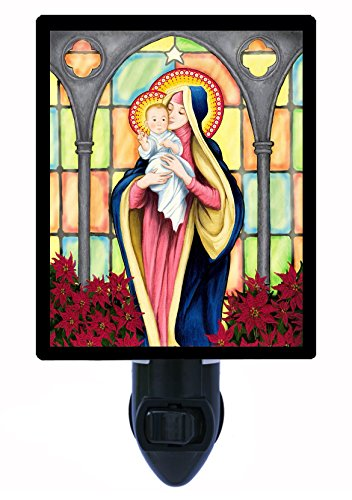 Night Light - Holy Infant - Virgin Mary - Baby Jesus - Religious - LED NIGHT LIGHT by Night Light Designs