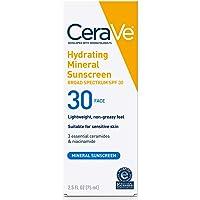 Cerave 100% Mineral Sunscreen SPF 30 | Face Sunscreen with Zinc Oxide & Titanium Dioxide for Sensitive Skin | 2.5 oz, 1…