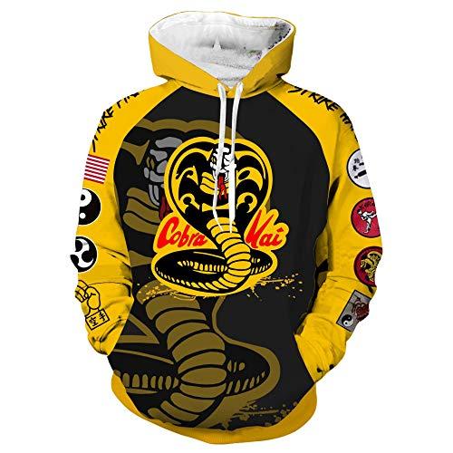 (YABOO Karate Dojo Hoodie Men Hooded Hoodie Halloween Sweatshirt Cosplay Jacket (2XL,)