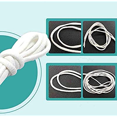 NEWHE 100m Rubber Handamade Elastic Bands,High Elasticity Elastic Rope,Heavy Stretch Bungee Wire for Sewing and Crafting,Knit String for Adult DIY,Bedspread,Elastic Rope (White): Sports & Outdoors