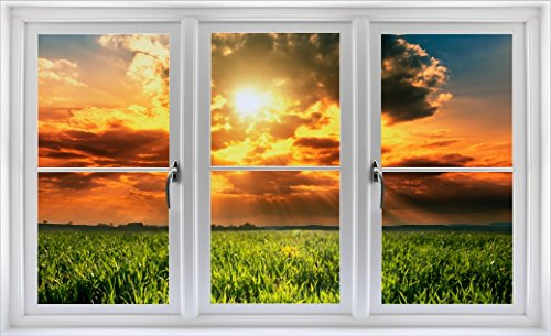 Field of Dreams Faux Window Wall Decal